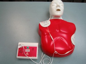 AED Pad Placement and CPR on Mannequin