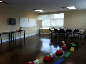 workplace approved Standard First Aid Training Classroom