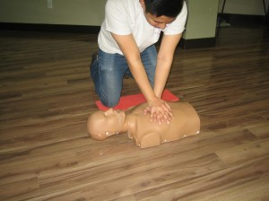 Standard first aid courses include CPR training