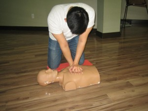 CPR Courses are included in standard first aid