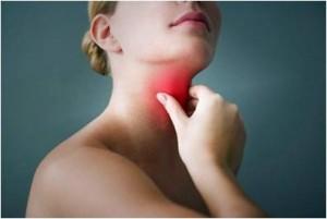 Swollen throat